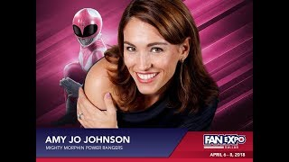 AMY JO JOHNSON - Mighty Morphin Power Rangers / Pink Ranger - Full Q&A Panel - Fan Expo Dallas 2018