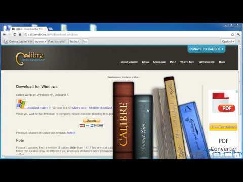 Come convertire eBook da PDF a ePub gratis usando Calibre