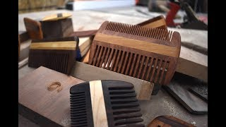 Making a wooden beard comb