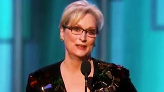 Meryl Streep Calls Donald Trump Out at Golden Globes for Mocking Disabled Reporter