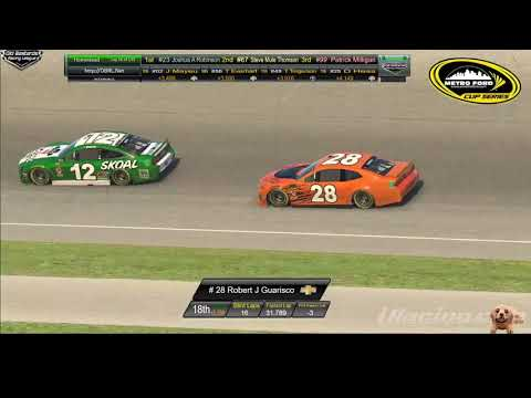 🏁 Nascar Metro Ford Cup Race at Homestead Miami Speedway - OBRL TV Style Race Broadcast. 11/17/19