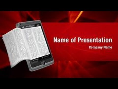 Ebook Reader PowerPoint Video Template Backgrounds ...