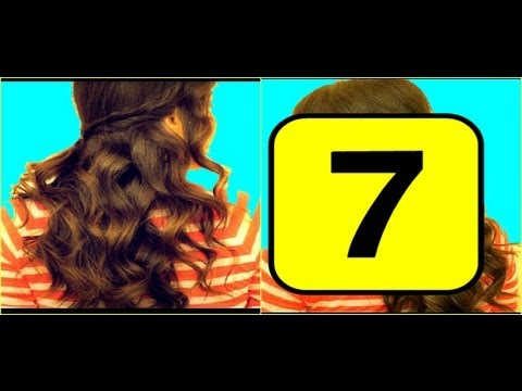 ★7-school-hairstyles-for-medium-long-hair-tutorial|-curly-half-up,-braided-ponytail,-braids,-updos