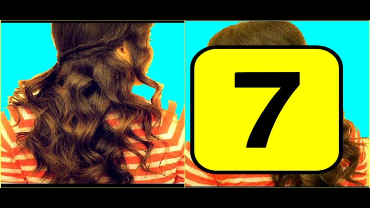 ☆7 SCHOOL HAIRSTYLES FOR MEDIUM LONG HAIR TUTORIAL| CURLY HALF UP, BRAIDED  PONYTAIL, BRAIDS, UPDOS   YouTube