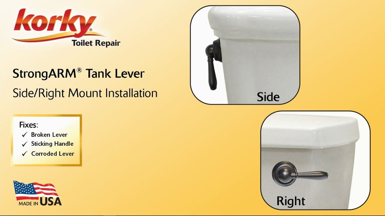 How to Install Korky StrongARM Toilet Levers | | Korky Toilet Parts
