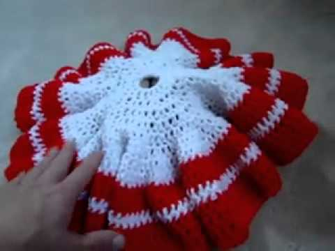 How To Crochet A Christmas Tree Skirt Youtube