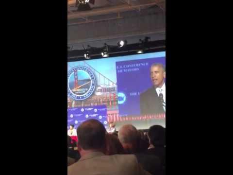 Ken Houston with President Obama