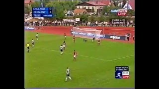 Shelley Thompson scores 4 goals for Germany against England