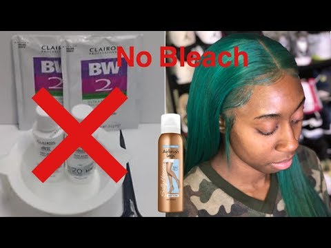 HOW TO HIDE/FAKE BLEACHED KNOTS ON A LACE FRONTAL WIG PART 2