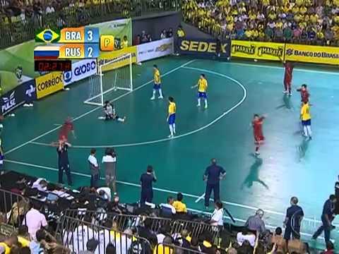 Futsal(FINAL) Brasil (4) 3 x 3 (2) Rússia -CAMPEÃO Grand Prix Futsal 2013