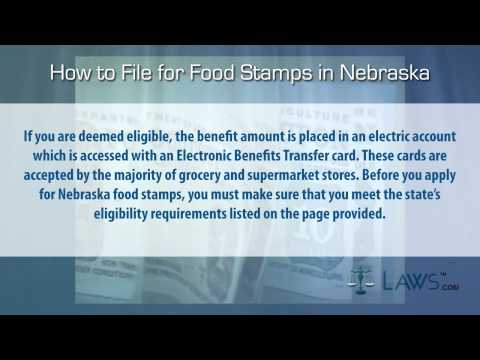 How to File for Food Stamps Nebraska