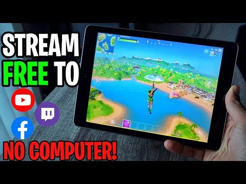 How To Stream FORTNITE MOBILE To Twitch, YouTube, Facebook - FREE NO COMPUTER! (iOS 13 2019)
