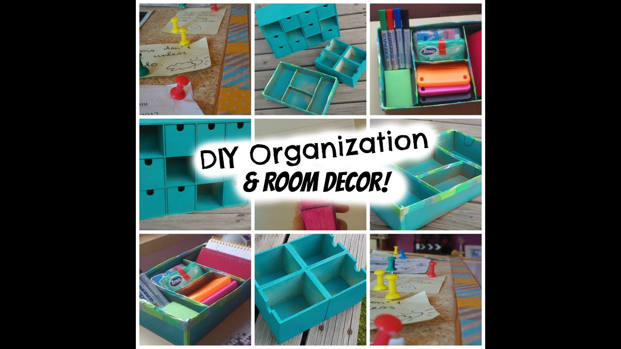 Good Diy Organization Part - 11: Back To School: DIY Organization U0026 Room Decor! Super Cheap And Easy! -  YouTube