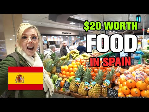 How Much Food Can You Buy With $20 In Spain?   Madrid, Spain Vlog 2020