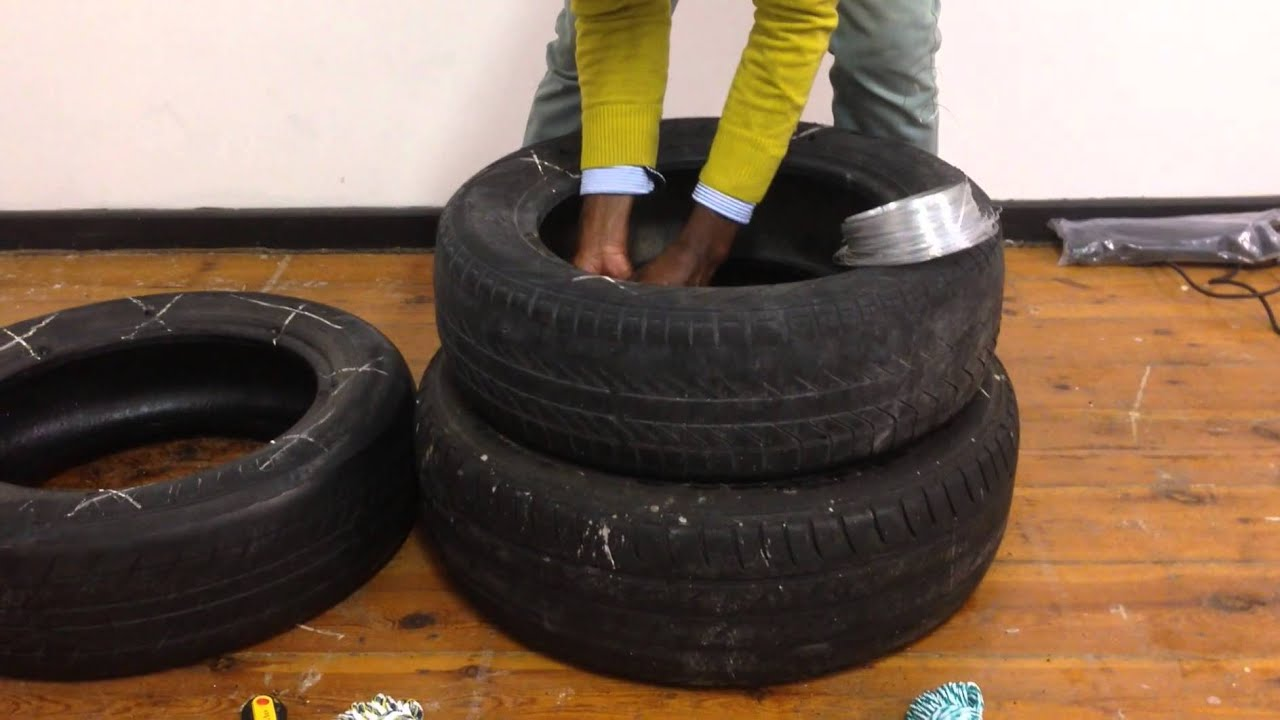 Lounge Chairs Made Out Of Old Tires - Easy Craft Ideas