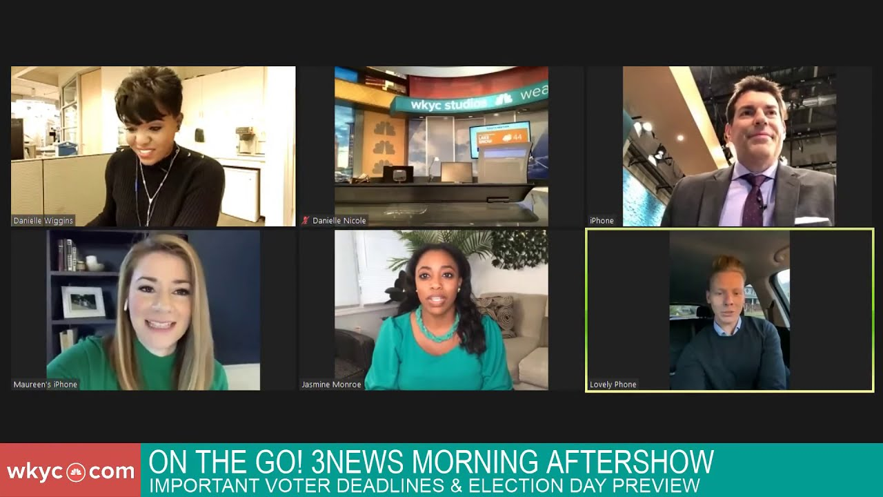 On the GO! 3News morning aftershow: Voting in Ohio & a preview of election day
