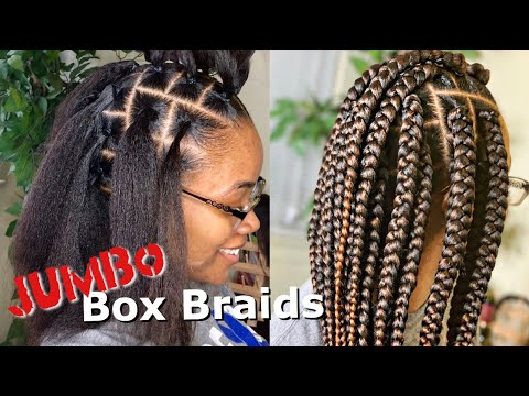 ***HIGHLY REQUESTED*** JUMBO BOX BRAIDS TUTORIAL | RUBBERBAND METHOD