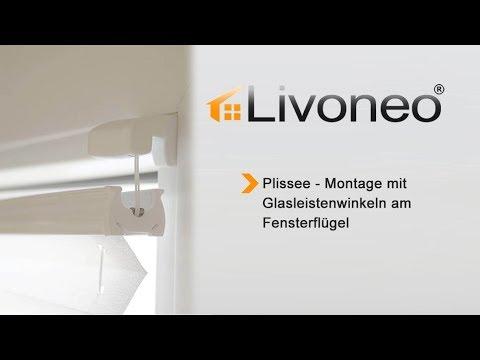 Gut bekannt Plissee - Montage mit Glasleistenwinkeln am Fensterflügel - YouTube XL36