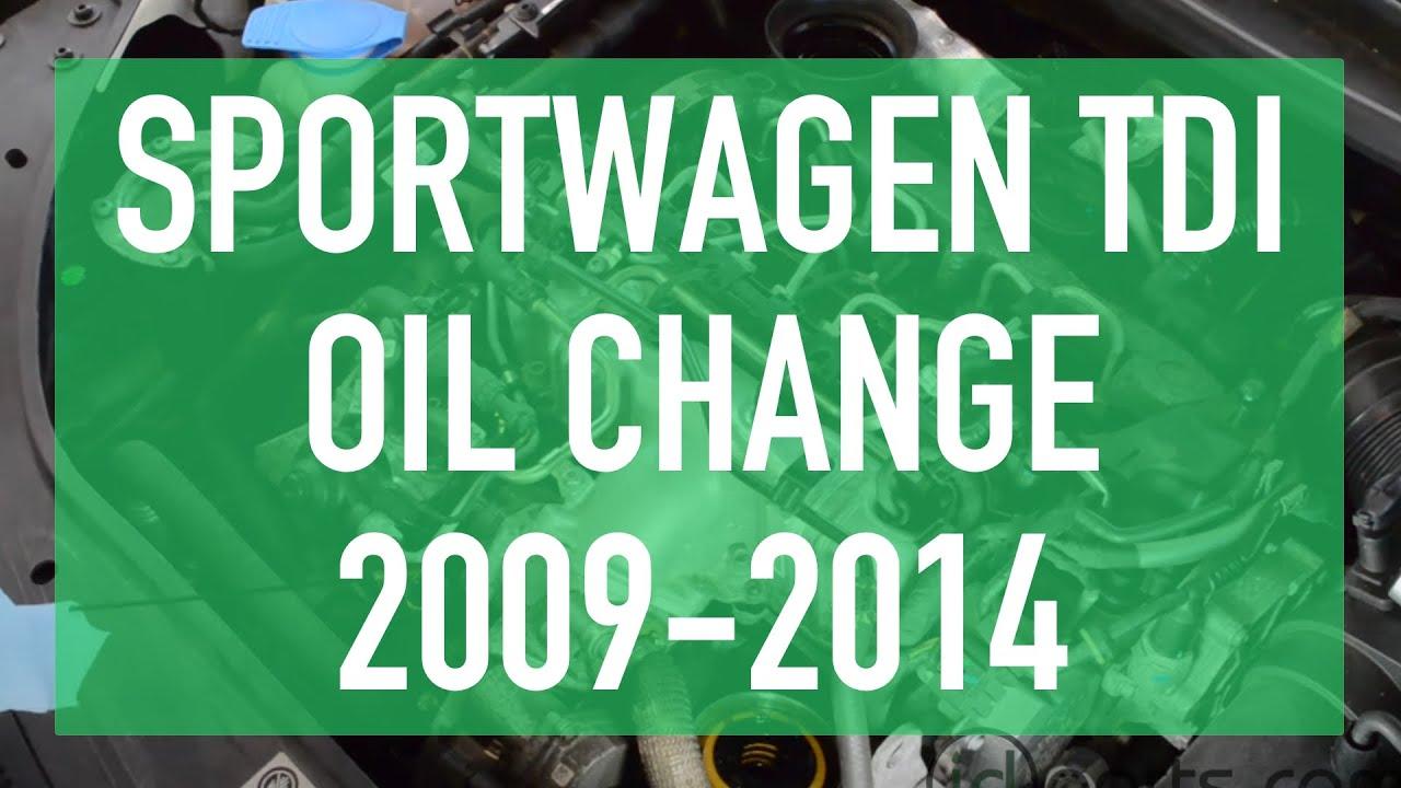oil change    jettagolfsportwagen tdi youtube