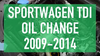 Oil Change on 2009-2014 Jetta/Golf/Sportwagen TDI