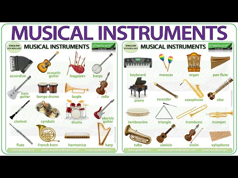 Musical Instruments Vocabulary Names Of Musical Instruments In English Youtube