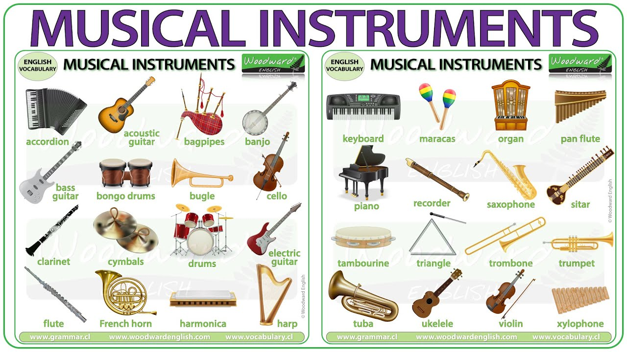 Musical Instruments Vocabulary Names Of Musical Instruments In English Youtube So let's take a look at the most popular idioms and common idioms in the english language. musical instruments vocabulary names of musical instruments in english