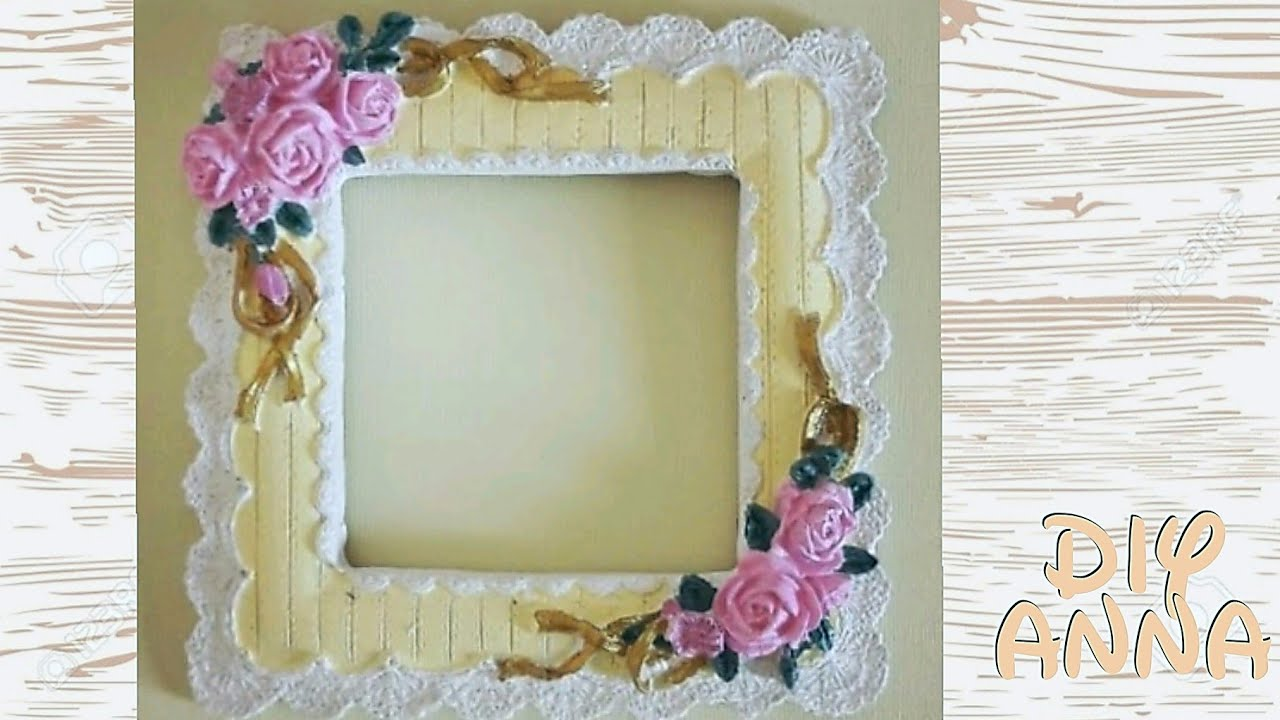 shabby chic gypsum picture frame DIY ideas decorations ...