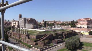 Roma, sull'Arco di Costantino con i restauratori: la prospettiva è fuori dal comune
