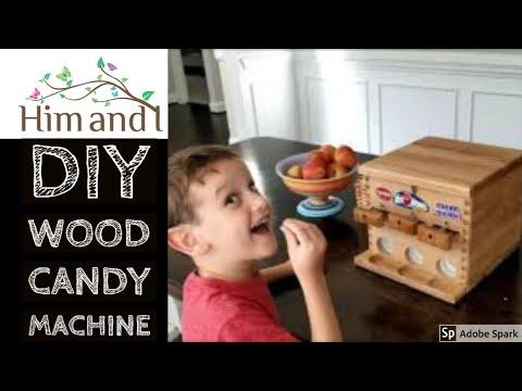 DIY Wooden Candy machine