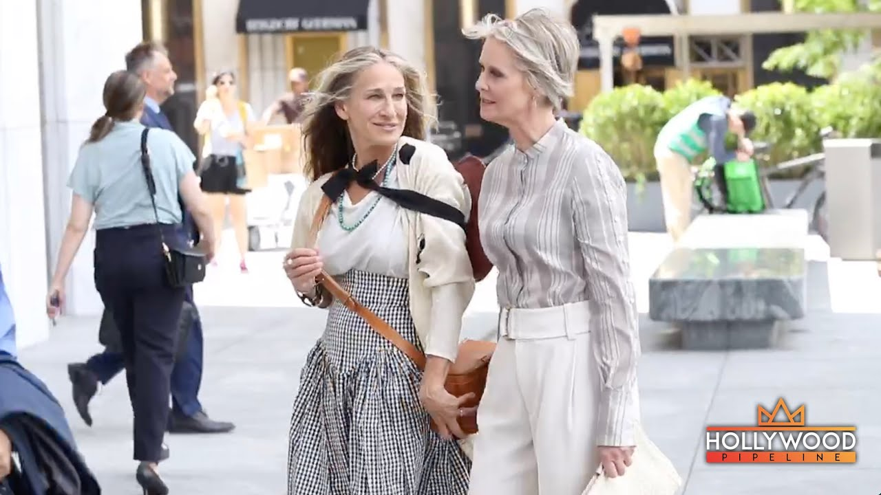 """Download Sarah Jessica Parker films Sex and the City reboot """"And Just Like That"""" with Cynthia Nixon"""