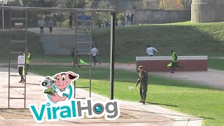 Chilean Military Obstacle Course Relay Race || ViralHog