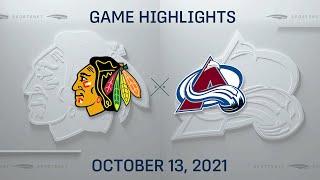 NHL Highlights   Blackhawks vs. Avalanche - Oct. 13, 2021