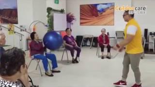 Group Exercise On Ball Games For Ageing Seniors Elderly At Goldencare