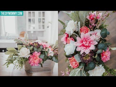 DIY Faux Flower Arrangement | Cheap & Easy!