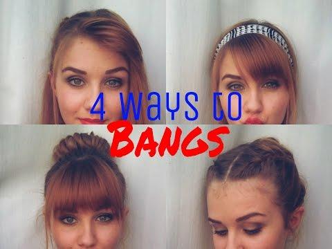 4 ways to Style Straight Bangs   Stella