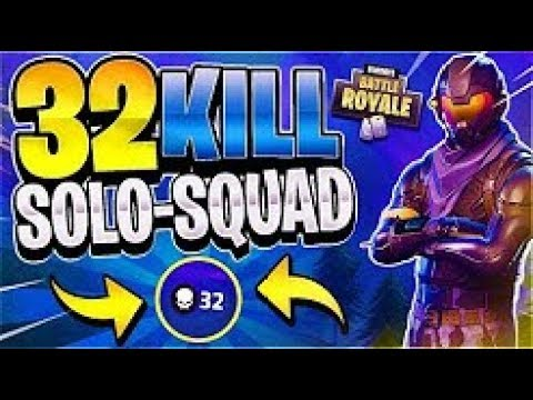 32 kill solo squad world record gameplay xbox fortnite battle royale - fortnite solo squads kill record
