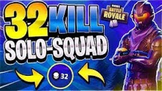 32 Kill Solo Squad World Record Gameplay! (Xbox) - Fortnite Battle Royale