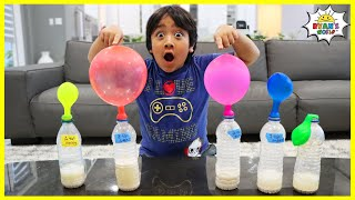 Easy DIY Science Experiment Blowing Up Balloons with Yeast!!!
