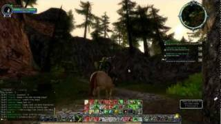 Lotro - Riding to the trollshaws.