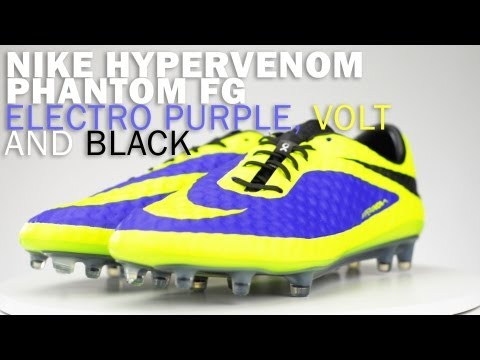 710e150d6 Nike Hypervenom Phantom FG Soccer Cleats - Electro Purple with Volt Review  - YouTube
