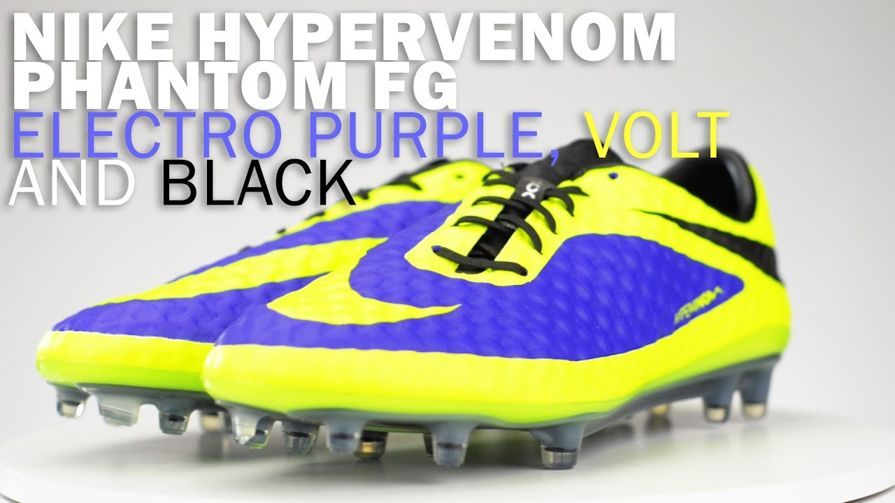 e312f3130 Nike Hypervenom Phantom FG Soccer Cleats - Electro Purple with Volt Review