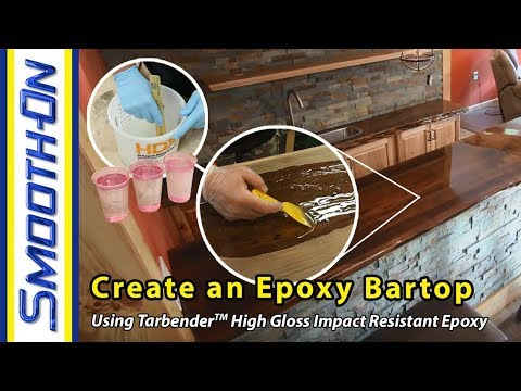 How To Make an Epoxy Bartop using Smooth-On Tarbender™ Resin