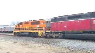 Circus Train With Elephant Cars & Indiana And Ohio Railway!  2 Awesome Trains In 1 Spot!