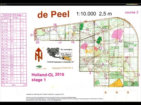 Holland-OL 2016 Orienteering event, Stage 1 - de Peel 5 May 2016