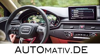 Tech-Check Audi A4 (2017) Multimedia-System Virtual Cockpit Review Hands-On