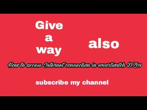 How To Access Internet Connection In Smartwatch Dz09 Youtube