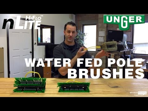Unger nLite   Overview   Water Fed Pole Brushes Overview
