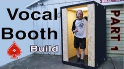 Vocal Sound Booth Whisper Room Build: Part 1Plans, basic frame out and electrical