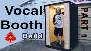 Vocal sound Booth Whisper Room Build: Part 1 plans and basic frame out and electrical