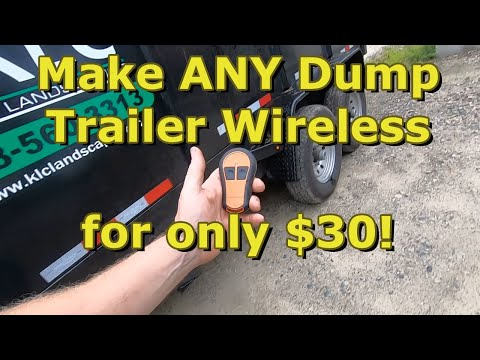DIY How To Make Your POWER DOWN Or GRAVITY DOWN Dump Trailer Wirelessly Controlled For $30